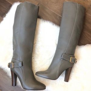 Sold! CHLOE Knee High Leather Buckle Boots